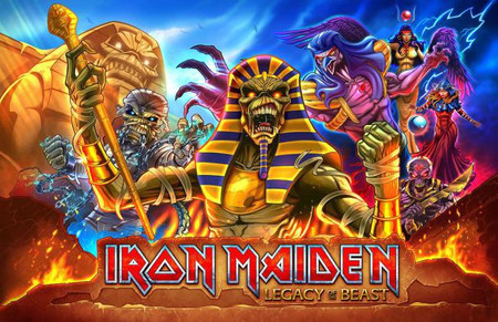 Stern Iron Maiden Premium Animated LED Backbox Light Replacement.  Dimmable