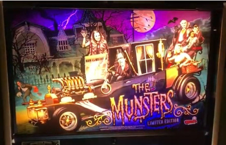 Stern Munsters LE Animated LED Backbox Light Replacement.  Dimmable