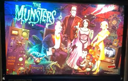 Stern Munsters Pro Animated LED Backbox Light Replacement.  Dimmable