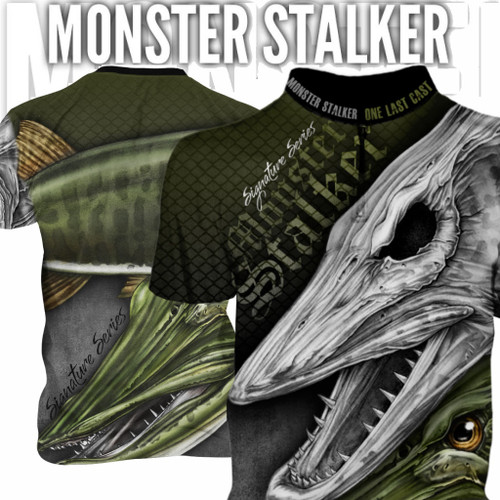 Monster Stalker Men's Fishing Jersey Short Sleeve Musky