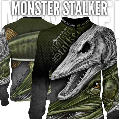 Monster Stalker Men's Fishing Jersey Long Sleeve Musky