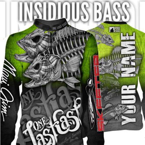 Insidious Bass Men's Fishing Jersey Long Sleeve Smallmouth - Custom