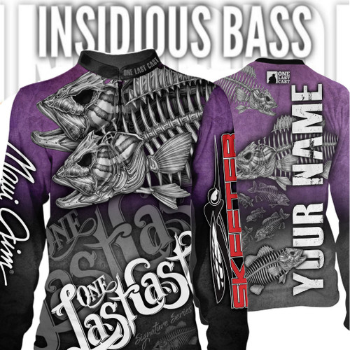 Insidious Bass Women's Fishing Jersey Long Sleeve Smallmouth - Custom