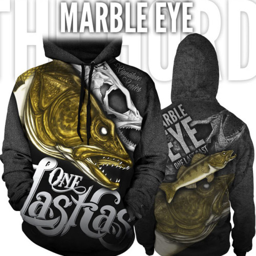 Marble Eye Fishing Hoodie - Walleye