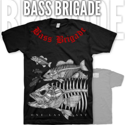 Bass Brigade Fishing Tee - Smallmouth Bass