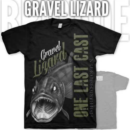 Gravel Lizard Fishing Tee - Walleye