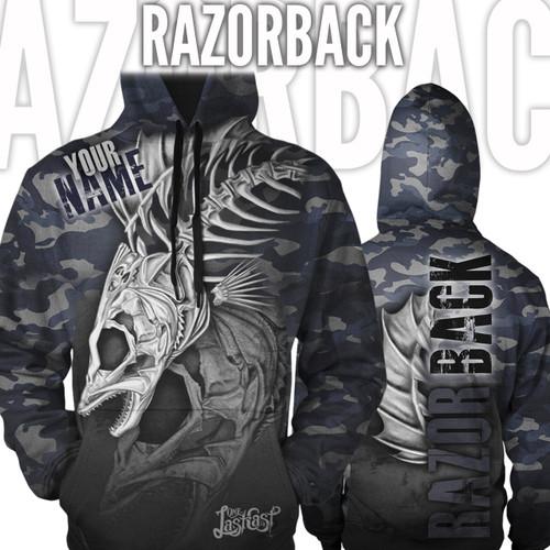 Razorback Men's Fishing Hoodie Walleye - Custom