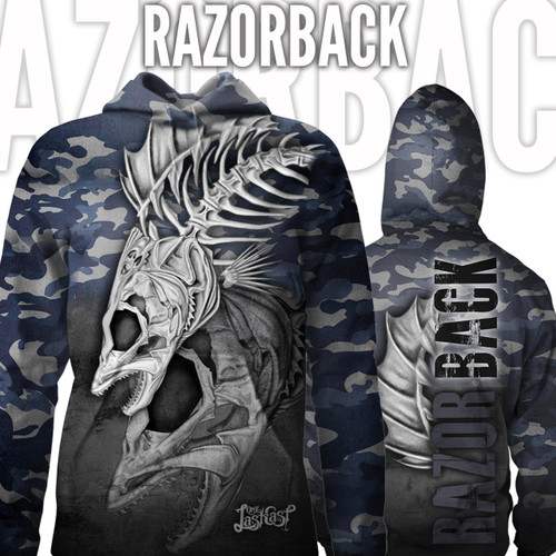 Razorback Women's Fishing Hoodie Walleye - Womens Fishing Apparel - Both