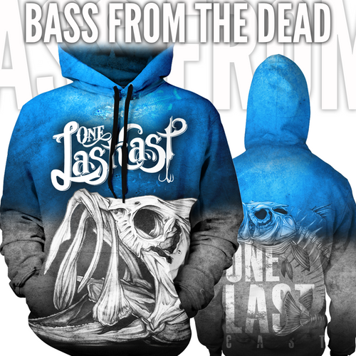 Bass From The Dead Men's Fishing Hoodie - Largemouth