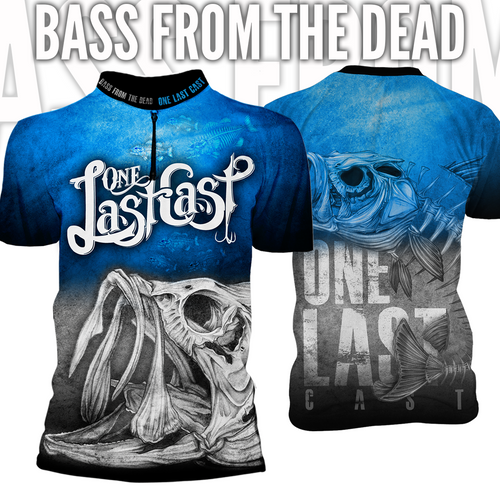 Bass From The Dead Men's Short Sleeve Fishing Jersey - Largemouth