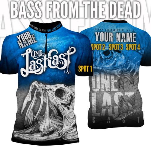 Bass From The Dead Men's Short Sleeve Fishing Jersey Largemouth - Custom