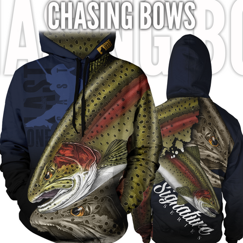 Chasing Bows Fishing Hoodie - Rainbow Trout