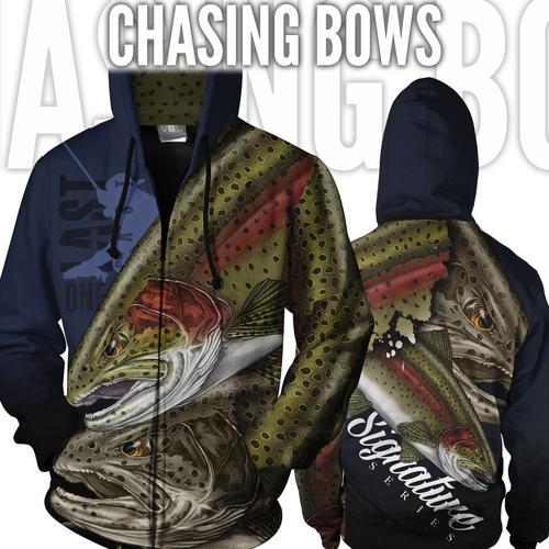 Chasing Bows Fishing Jacket - Rainbow Trout