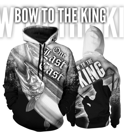 Bow to the King Men's Fishing Hoodie - King Salmon