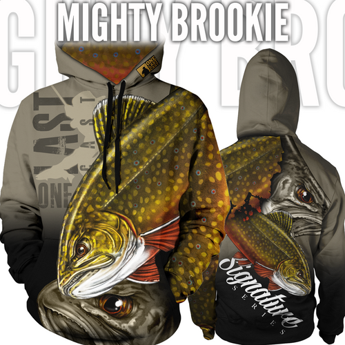 Mighty Brookie Women's Fishing Hoodie - Brook Trout
