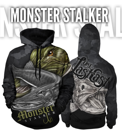 Monster Stalker Men's Fishing Hoodie - Muskie