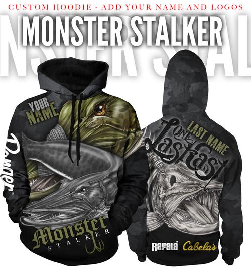 Monster Stalker Men's Fishing Hoodie - Muskie - Custom