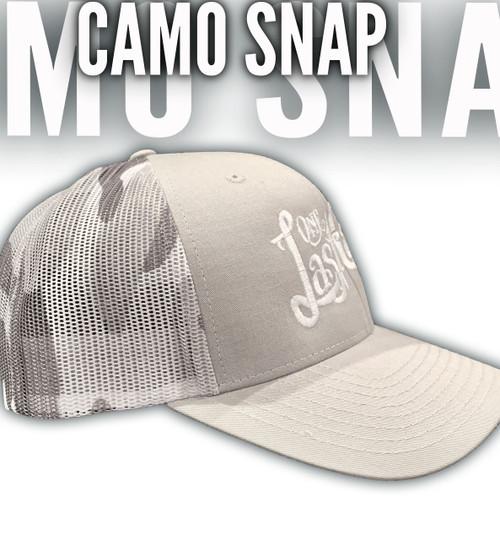 OLC Gray Camo Snapback Lid