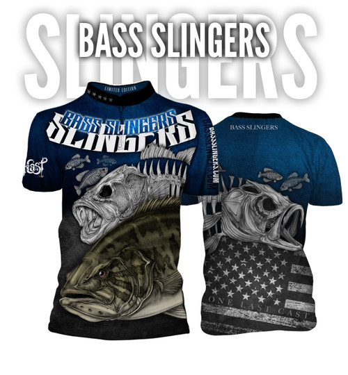 Bass Slingers Men's Short Sleeve Fishing Jersey