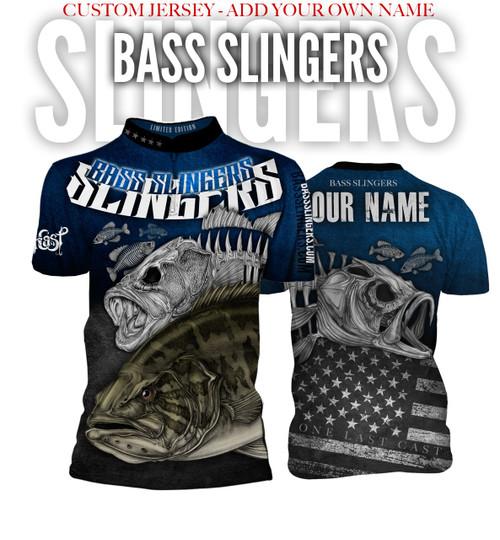 Bass Slingers Men's Short Sleeve Fishing Jersey - Custom