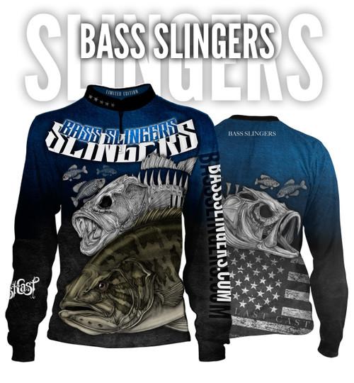 Bass Slingers Men's Long Sleeve Fishing Jersey