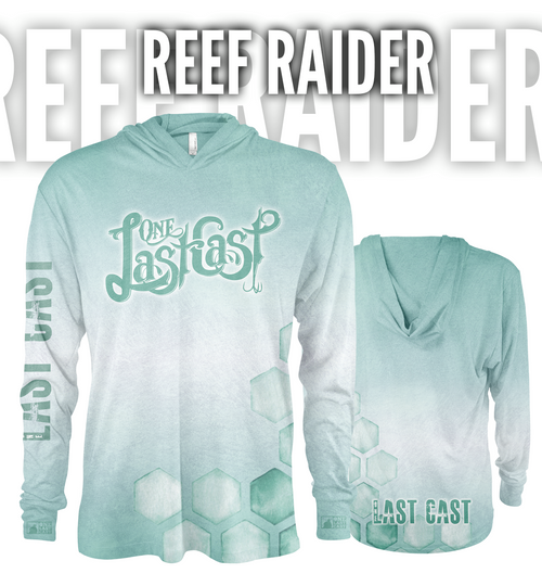 Reef Raider Men's Hooded Fishing Jersey - Sea Green