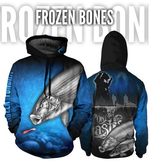 Frozen Bones Men's Fishing Hoodie - Whitefish