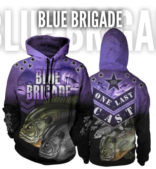 Blue Brigade Women's Fishing Hoodie 1/4 Zip - Bluegill