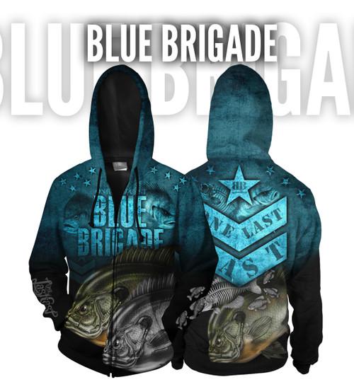 Blue Brigade Men's Fishing Hoodie - Full Zip - Bluegill