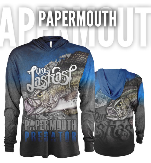 Papermouth Men's Hooded Fishing Jersey - Crappie
