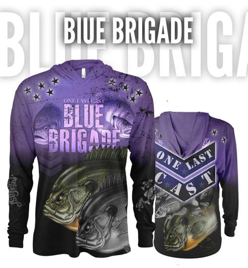 Blue Brigade Women's Hooded Fishing Jersey - Bluegill