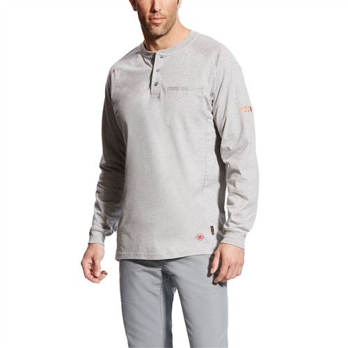 Ariat Flame Resistant Air Silver Fox Work Henley