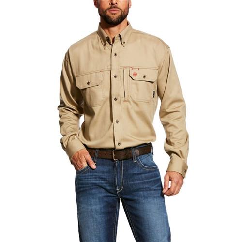 Ariat Flame Resistant Khaki Vent Shirt