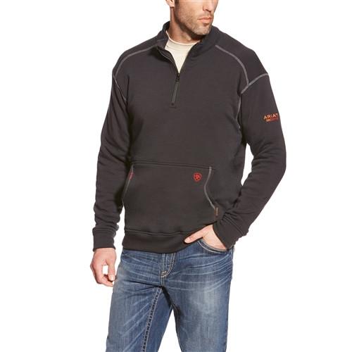 Ariat FR Polartec Black 1/4 Zip Fleece 10015949