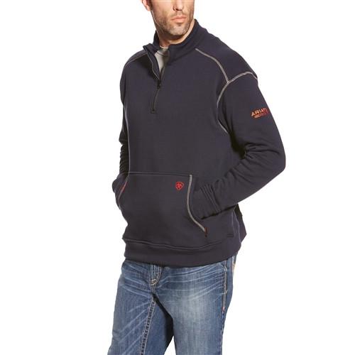 Ariat FR Polartec Navy 1/4 Zip Fleece Jacket 10015950