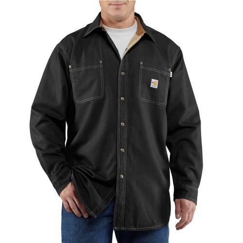 Carhartt Flame Resistant Black Shirt Jacket