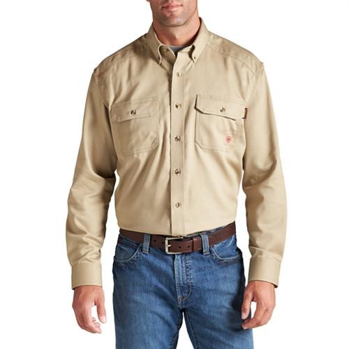 Ariat Flame Resistant Khaki Work Shirt