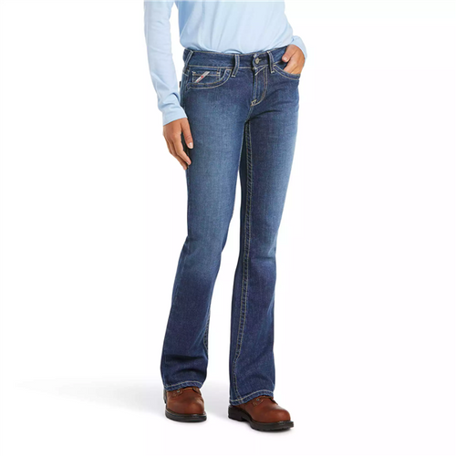 Ariat Women's Flame Resistant Mid Rise Boot Cut Jeans