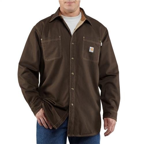 Carhartt Flame Resistant Brown Shirt Jacket