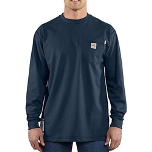 Carhartt Flame Resistant Navy Work-dry® T-Shirt