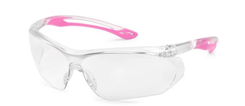 Parallax Gateway Safety Eyewear Clear Lens/ Pink Flex - 37PK80