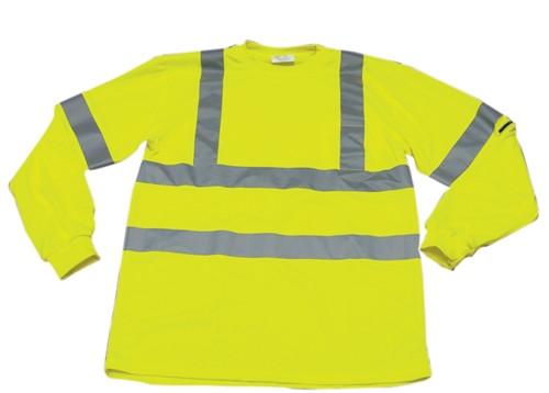 Ironwear Hi-Visibility Lime Long Sleeved T-Shirt