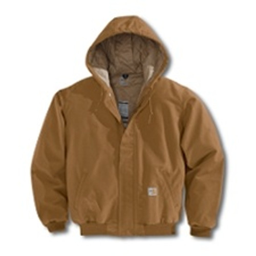 Carhartt Brown Flame Resistant Duck Jacket Quilt Lining 101621