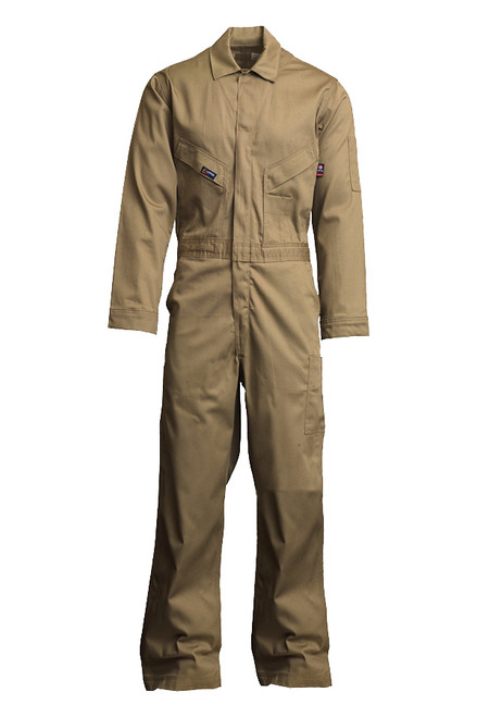 Lapco Flame Resistant Khaki Contractor Coverall