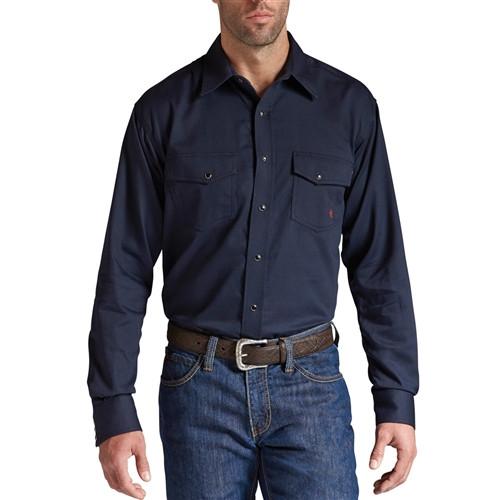 FR Ariat Solid Navy Work Shirt