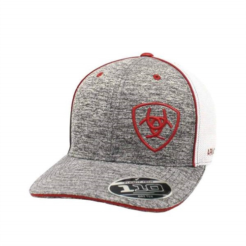 Ariat Heather Gray Embroidered Baseball Cap