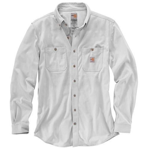Carhartt Flame-Resistant Force Cotton Hybrid Grey Shirt