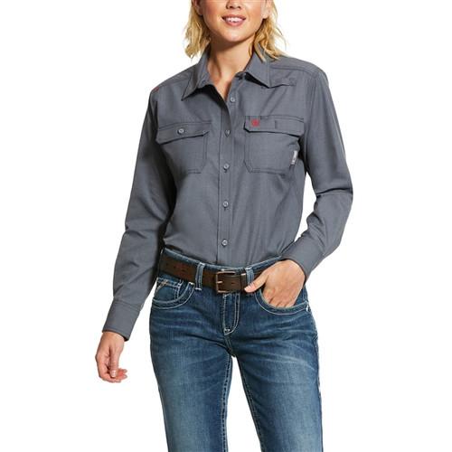 Ariat Women's FR Featherlight Gunmetal Grey Work Shirt