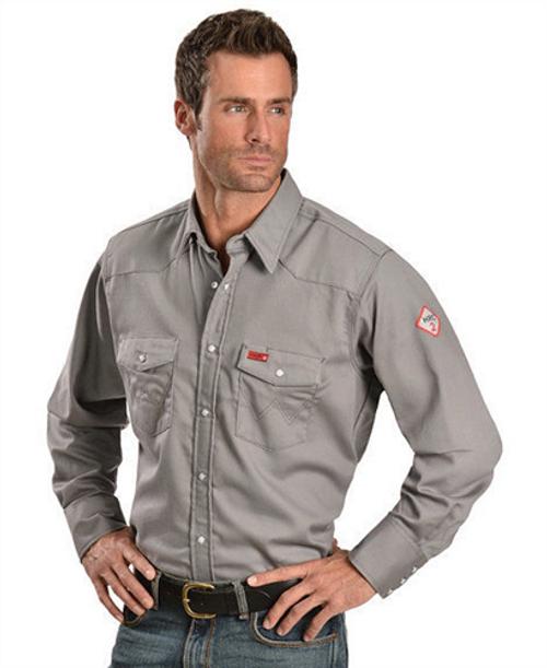 Wrangler Men's FR Lightweight Charcoal Work Shirt FR127CH