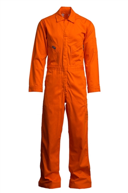 Lapco Flame Resistant Orange Contractor Coverall